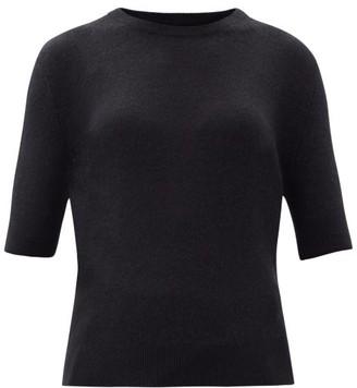 KHAITE Dianna Short-sleeved Cashmere-blend Sweater - Black