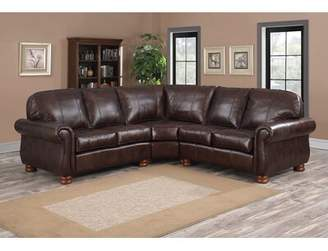 Darby Home Co Beldale Symmetrical Leather Sectional Darby Home Co