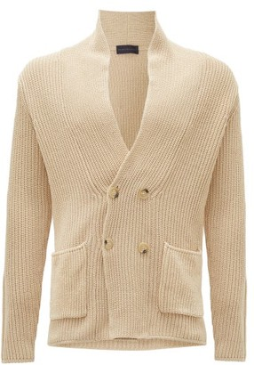Thom Sweeney - Double-breasted Cotton Cardigan - Light Grey
