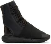 Y-3 Black Qasa Boot High-Top Sneakers
