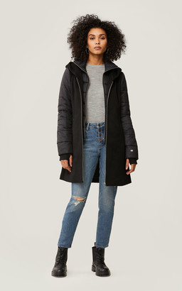 Soia & Kyo LOLLI slim fit wool coat with puffer sleeves