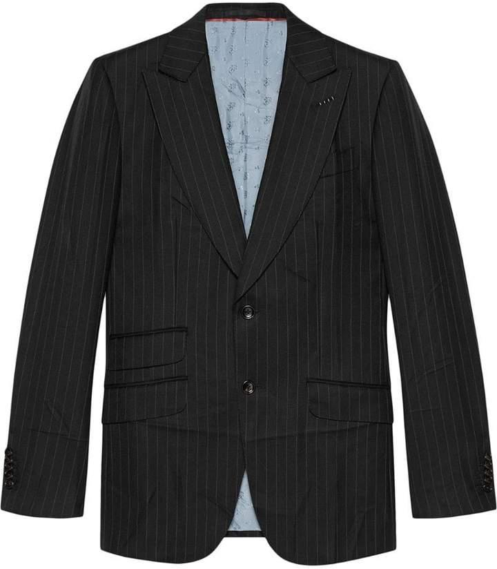 Gucci Mitford pinstripe wool jacket