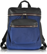 Paul Smith Black Nappa and Blue Nylon Men's Rucksack