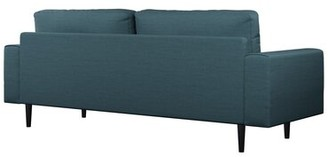 "Binns 3 Seater 75.75"" Square Arm Sofa Corrigan Studio Fabric: Light Steel Polyester, Leg Color: Black"