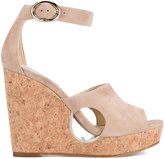 Jimmy Choo 'Neyo 120' Suede Cork Cutout Wedges