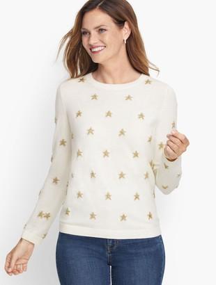 Talbots Shimmer Stars Crewneck Sweater
