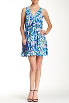 Lush Sleeveless Faux-Wrap Dress