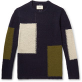Folk - Colour-block Wool-blend Sweater