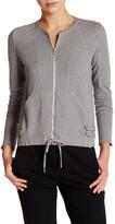 The Kooples Fleece Moto Zip Sweatshirt