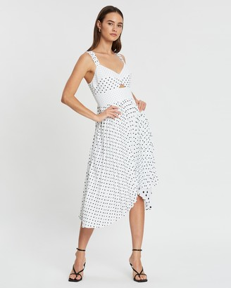 Banana Republic Sweetheart Pleated Midi Print Dress