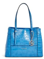 GUESS Delaney Crocodile-Embossed Shopper Tote