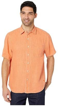 Tommy Bahama Sea Glass Breezer S/S Camp Shirt (Cactus Flower) Men's Clothing