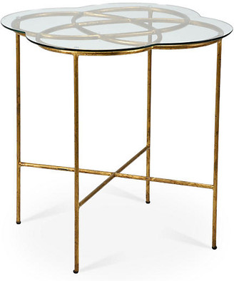 Chelsea House Nadine Knot Side Table - Antiqued Gold