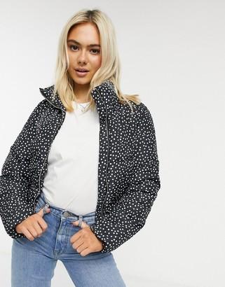 JDY padded jacket in spot print