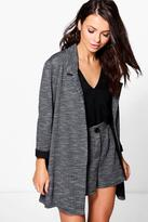 Boohoo Emma Textured Marl Tailored Blazer