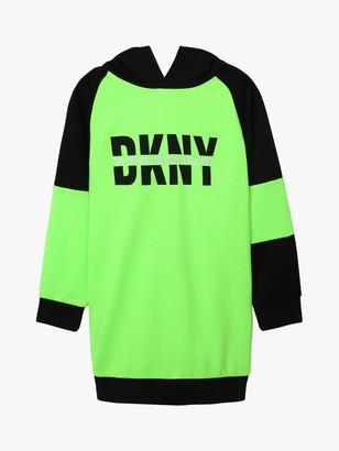 DKNY Girls' Logo Colour Block Jumper Dress