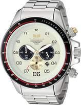 Vestal Men's 'ZR3' Quartz Stainless Steel Dress Watch, Color:Silver-Toned (Model: ZR3037)