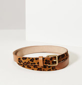 LOFT Leopard Print Haircalf Leather Belt