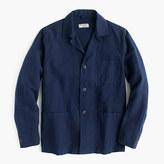 J.Crew Wallace & Barnes lightweight garment-dyed cotton-linen shirt-jacket