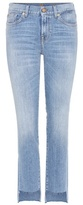 7 For All Mankind Mid-rise Roxanne jeans with cropped step hem