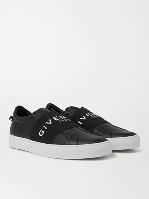 Givenchy Urban Street Logo-Print Leather Slip-On Sneakers