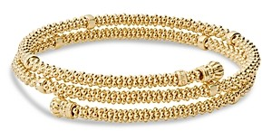 Lagos Caviar Gold Collection 18K Gold Coil Bracelet