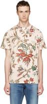 McQ by Alexander McQueen Beige Floral T-Shirt