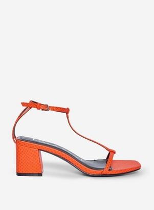 Dorothy Perkins Womens Lola Skye Orange 'Smug' Heeled Sandals, Orange