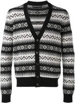 Alexander McQueen patterned V-neck cardigan