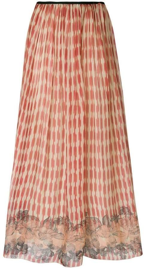Forte Forte flared printed skirt