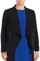 Nipon Boutique Plus Crepe Flyaway Blazer