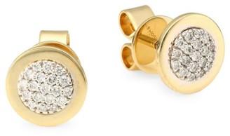 Phillips House 14K Yellow Gold & Diamond Stud Earrings