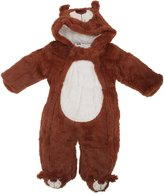 Universal Textiles Baby Boys/Girls Furry Bear Hooded Winter Bodysuit/Romper (6/9 Months)