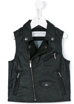 John Galliano biker jacket - kids - Cotton/Polyurethane - 6 yrs