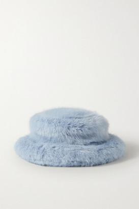 Emma Brewin - Faux Fur Bucket Hat - Sky blue