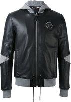 Philipp Plein hooded jacket - men - Cotton/Sheep Skin/Shearling/Polyamide - M