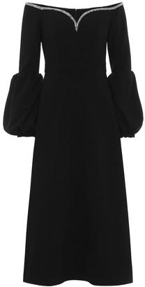 Self-Portrait CrApe off-the-shoulder midi dress
