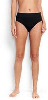 Lands' End Women's High Waist Bikini Bottoms-Red