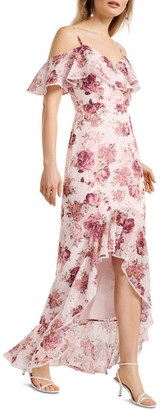 Forever New Stacey Off Shoulder Ruffle Maxi Dress