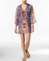 Raviya Printed Beaded Tunic Cover-Up