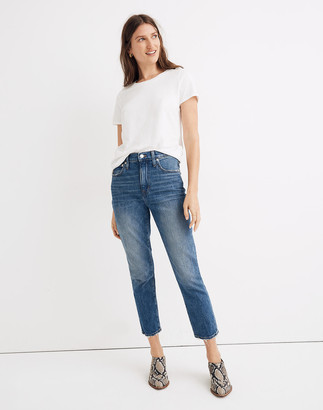 Madewell The High-Rise Slim Boyjean in Lavern Wash
