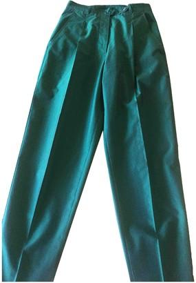 Romeo Gigli Green Cotton Trousers for Women