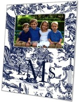 The Well Appointed House Navy Toile Decoupage Photo Frame-Can Be Personalized