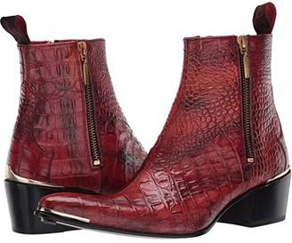 Jeffery West Double Metal Zip Boot Sylvian (Red) Women's Shoes