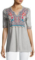 Johnny Was Mina Boho Embroidered Easy Top