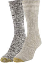 Gold Toe Women's 2-Pk. Textured Crew Socks