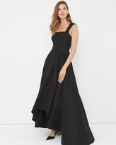 White House Black Market One-Shoulder Black Asymetric Gown