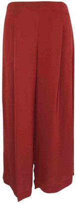 Theory Burgundy Silk Trousers