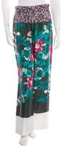 Dries Van Noten Silk Floral Print Pants