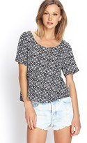 Forever 21 Abstract Knit Tee